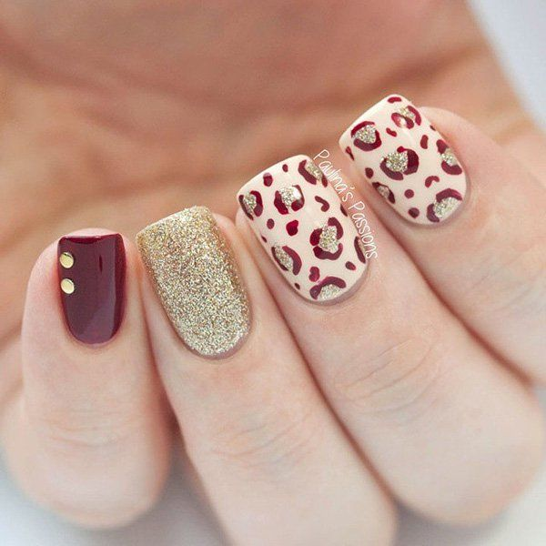 Red Leopard Print Nails 50 Stylish Leop...