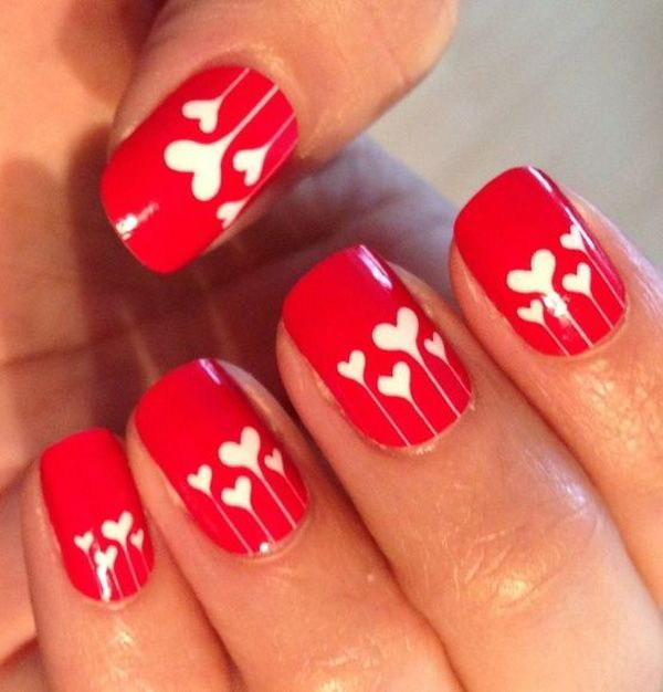 45+ Romantic Heart Nail Art Designs - 45+ Romantic Heart Nail Art Designs - For Creative Juice