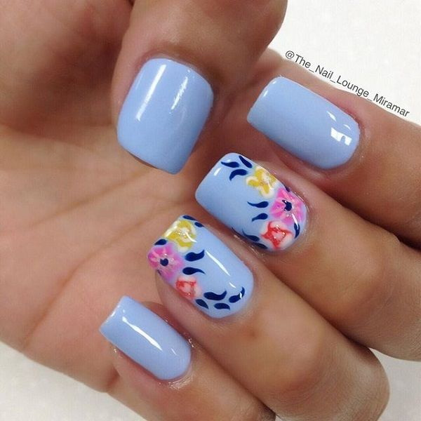 40 blue nail art ideas for creative juice prinsesfo Gallery