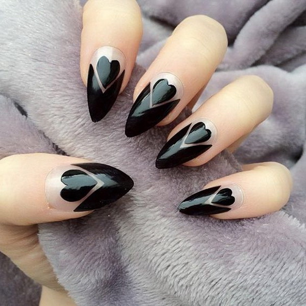 25 elegant black nail art designs for creative juice prinsesfo Gallery