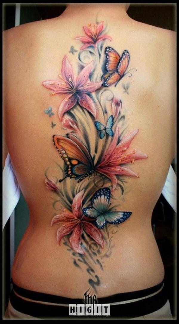 35 pretty lily flower tattoo designs for creative juice. Black Bedroom Furniture Sets. Home Design Ideas