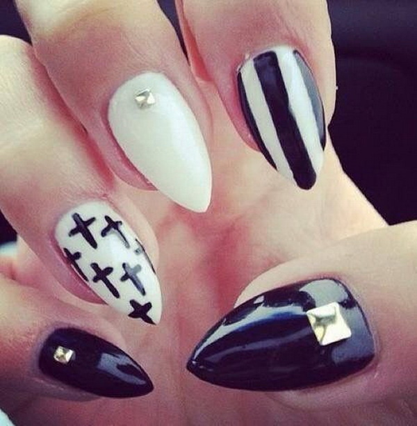- 30 Stylish Black & White Nail Art Designs - For Creative Juice