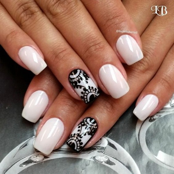 20 Romantic Lace Nail Designs - For Creative Juice