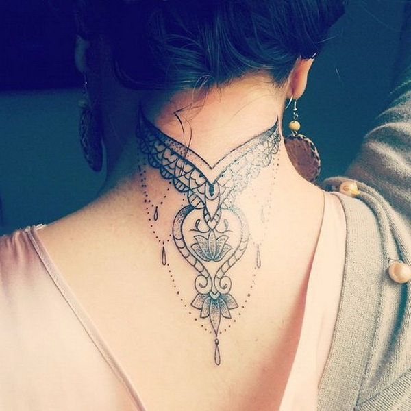 55+ Attractive Back of Neck Tattoo Designs - For Creative Juice