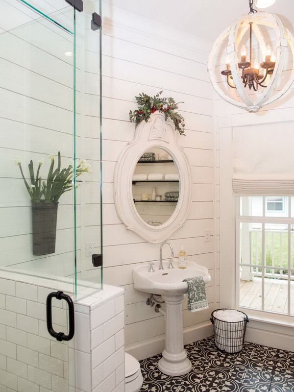 20 Amazing Farmhouse Bathrooms With Rustic Warm For