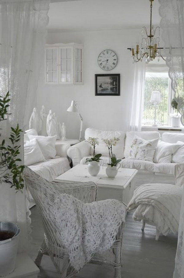 25 charming shabby chic living room decoration ideas for Chic living room ideas