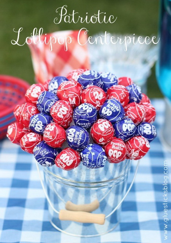 15 Festive Diy Table Centerpiece For 4th Of July With Lots