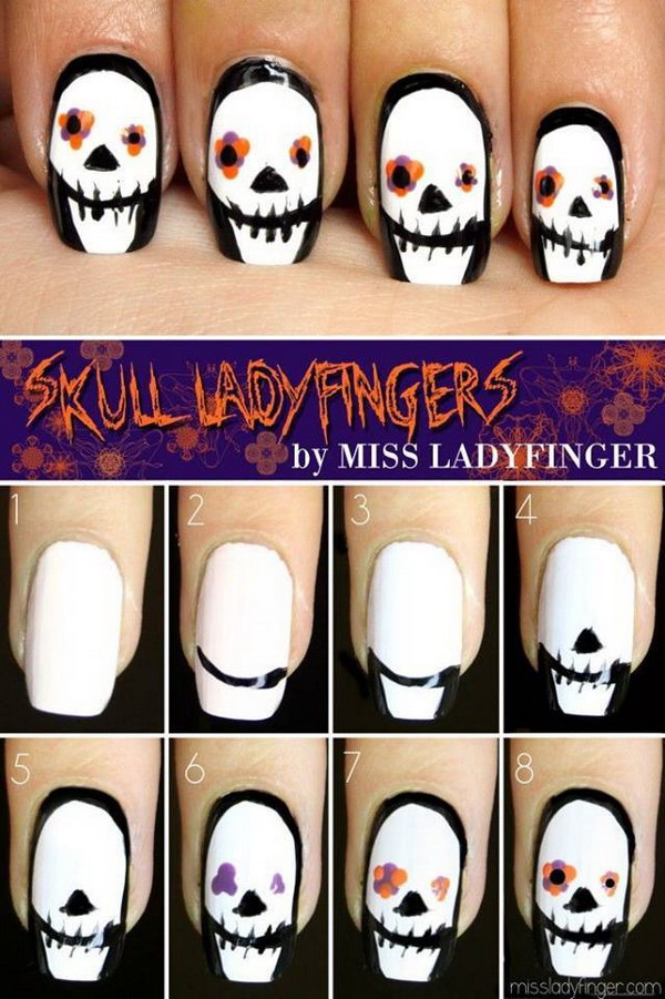 DIY Halloween Nail Art Designs with Step-by-Step Tutorials ...