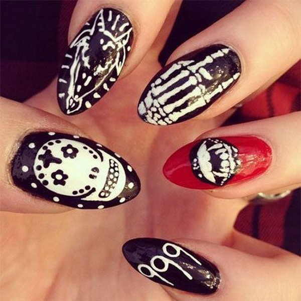 50 spooky halloween nail art designs for creative juice prinsesfo Choice Image