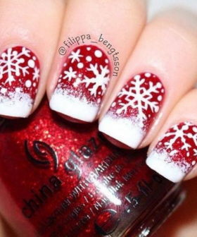 74 Festive Christmas Nail Designs for 2017