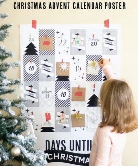 DIY Christmas Countdown Advent Calendar Ideas & Tutorials