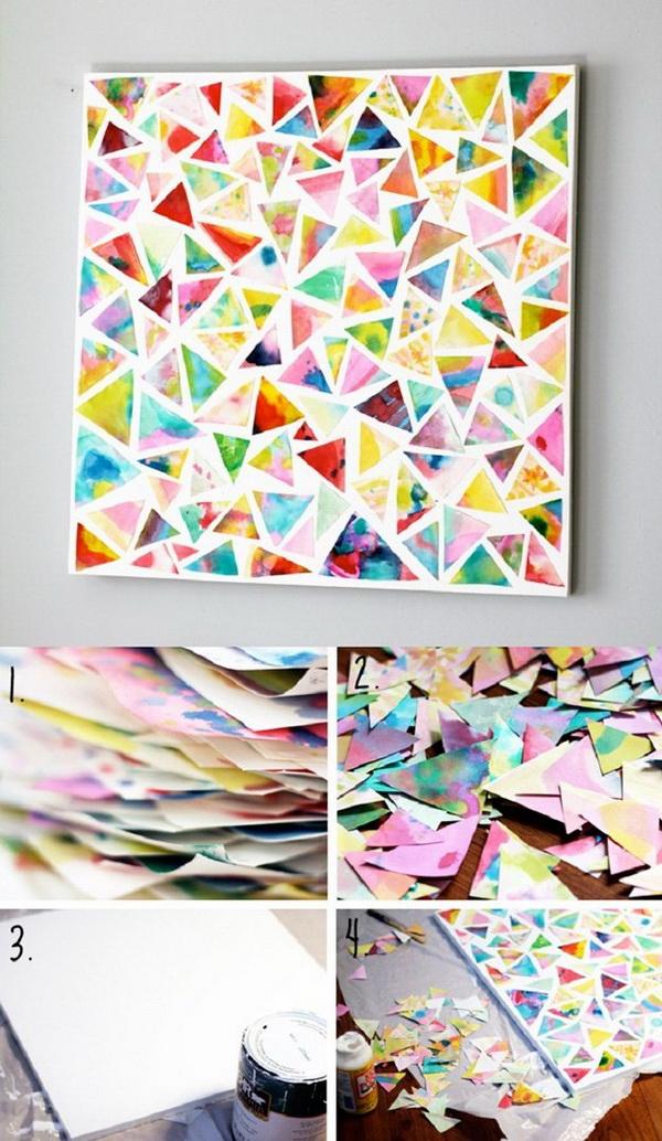 25+ Stunning DIY Wall Art Ideas & Tutorials - For Creative ... on Creative Wall Art Ideas  id=89757