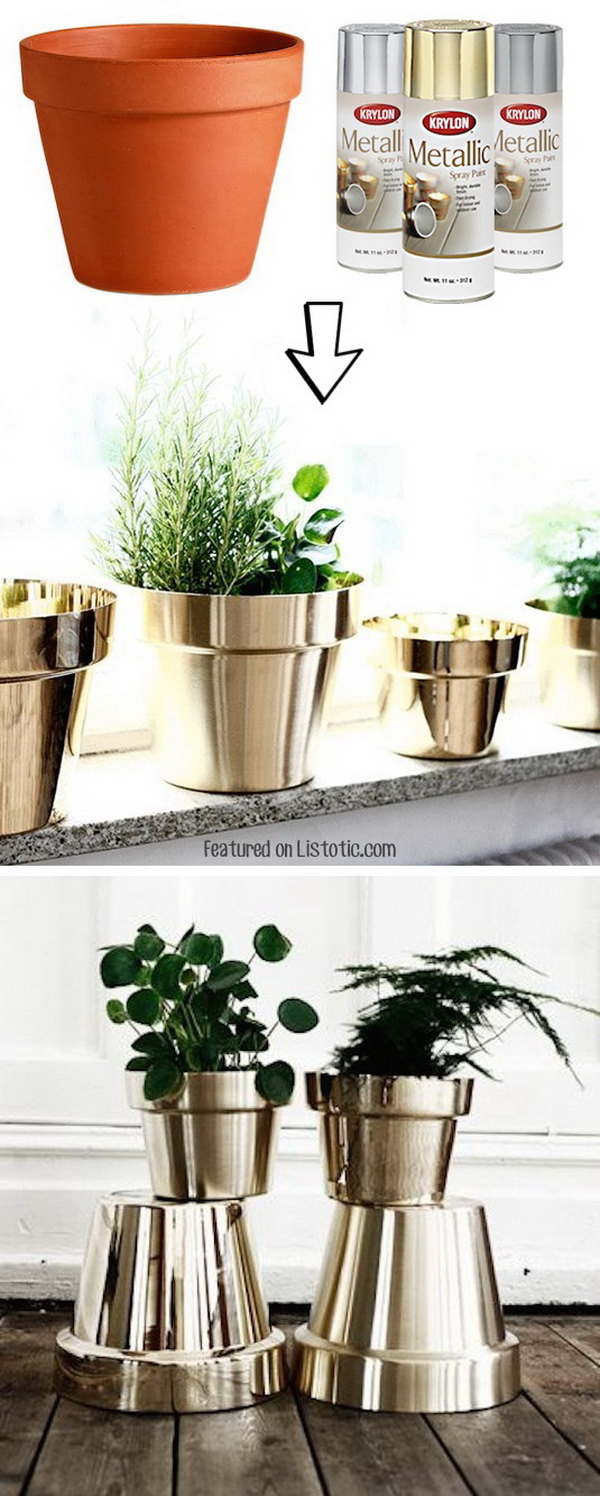 17 Creative Ideas To Decorate With Terra Cotta Flower Pots For Creative Juice