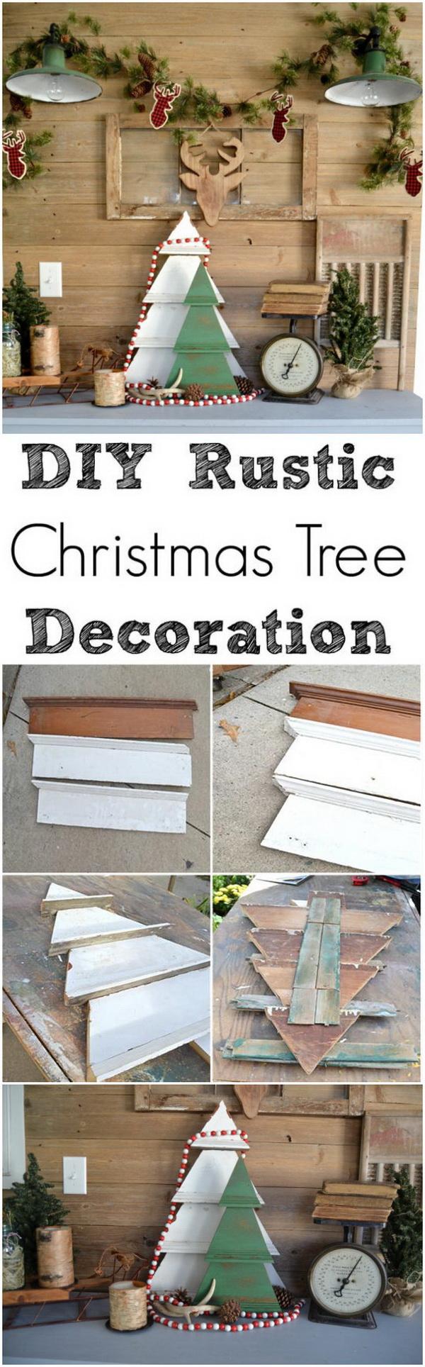 DIY Rustic Christmas Tree Decoration.